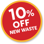 10% Off New Waste